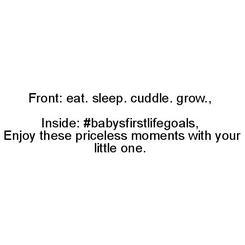 Babys First Life Goals