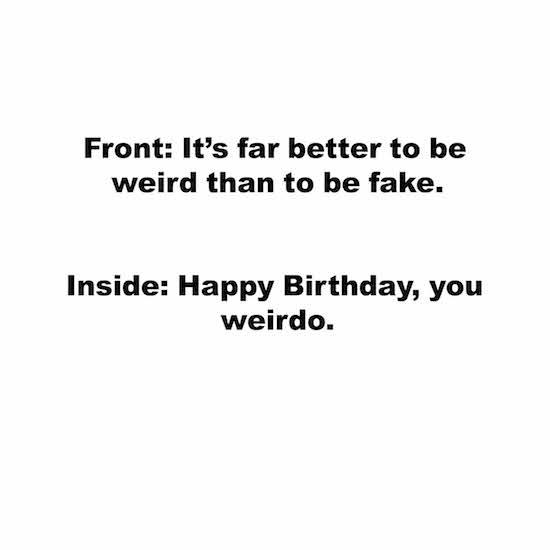 greeting card - Weird by Taylour Kumpf
