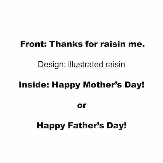 greeting card - Raisin by Taylour Kumpf