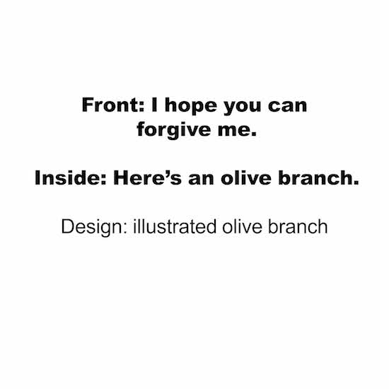 greeting card - Olive Branch by Taylour Kumpf