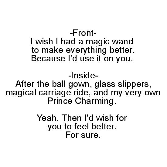 greeting card - I'd Use My Magic Want To Make You Feel Better. Sort of. by 2aT