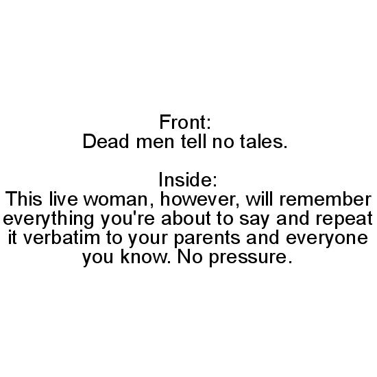 greeting card - Dead Men, Live Woman by Christopher Garrett