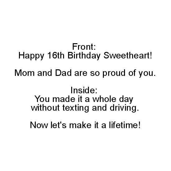 greeting card - Don't Text and Drive Birthday by Bernadette von Buelow