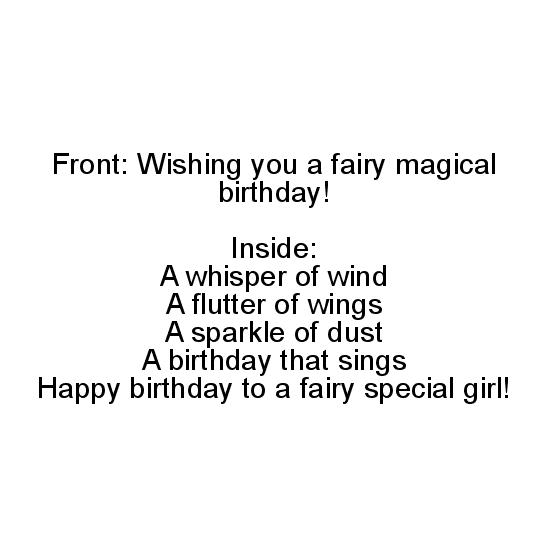 greeting card - Fairy Magical Birthday by Margaret Greanias