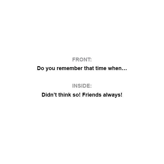 greeting card - Friends: Always by Al Harvey