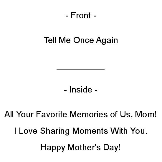 greeting card - Sharing Moments with Mom by Aure