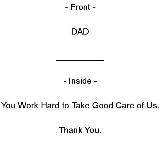 greeting card - Thank You, Dad by Aure