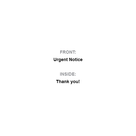 greeting card - Thanks: Urgent Notice by Al Harvey