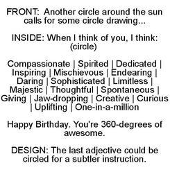 360-degree birthday