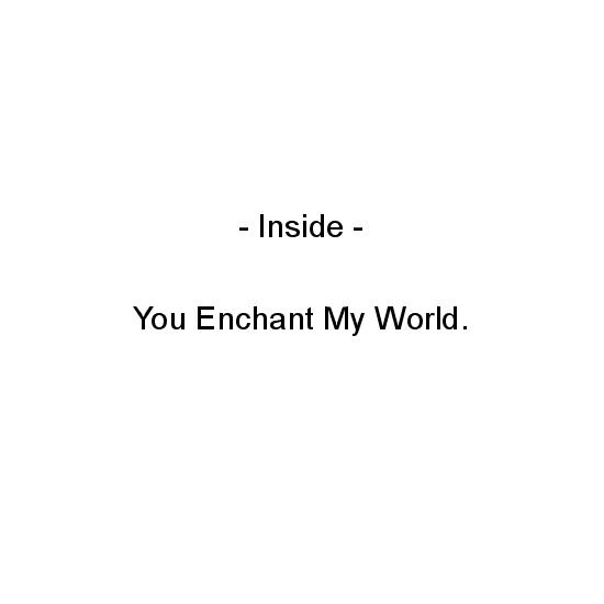 greeting card - You Enchant My World by Aure