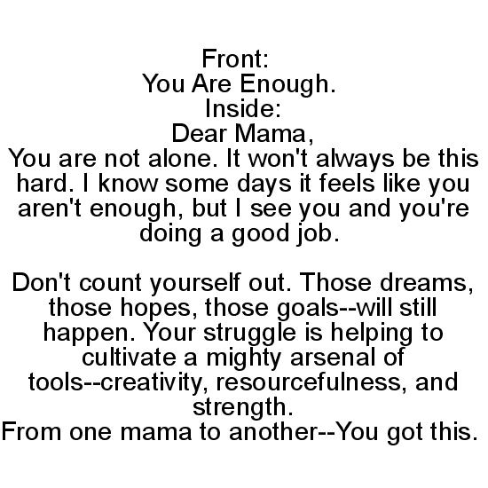 greeting card - You Are Enough by Ashley N. Ivery
