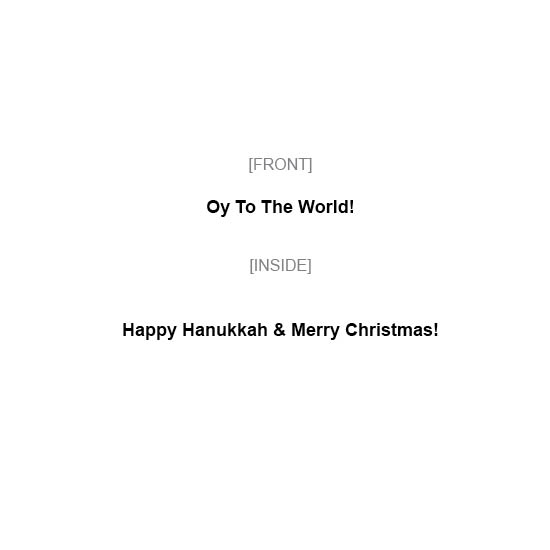 greeting card - Oy To The World by MIKE LUPARIELLO