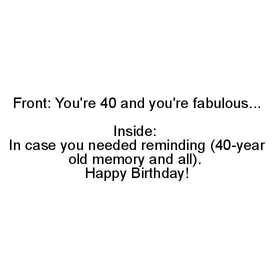 greeting card - Fabulous 40 by Margaret Greanias