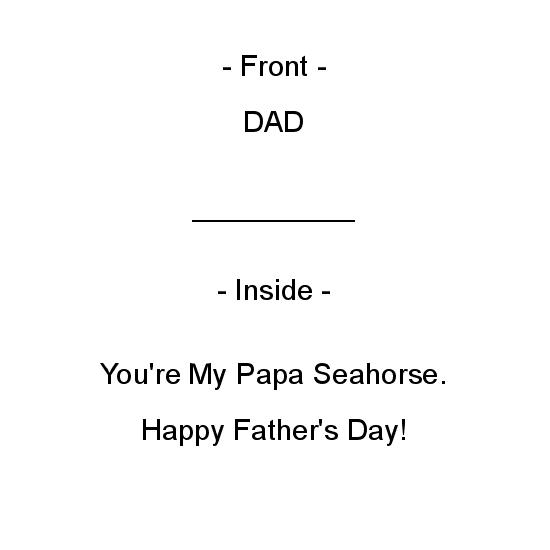 greeting card - Seahorse Father's Day by Crich