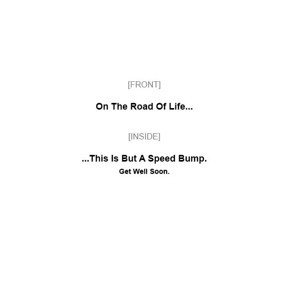 greeting card - Speed Bump by MIKE LUPARIELLO