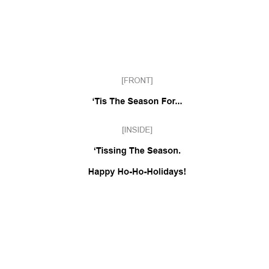 greeting card - Tis The Season by MIKE LUPARIELLO