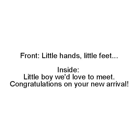 greeting card - Little Hands And Feet - Boy by Margaret Greanias