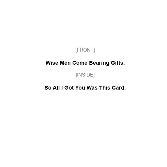 greeting card - Wise Men by MIKE LUPARIELLO