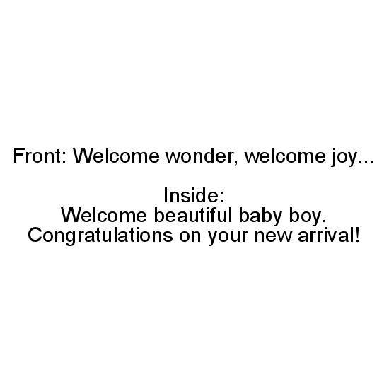 greeting card - Welcome wonder by Margaret Greanias