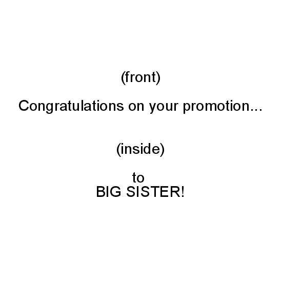 greeting card - Big Sister Promotion by Politesse Studio