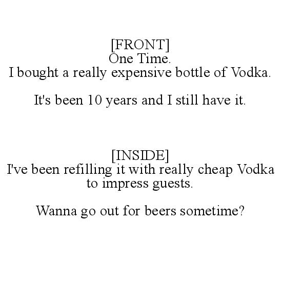 greeting card - One Time. VODKA. by Kristy Wieland