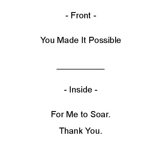 greeting card - You Made It Possible by Crich