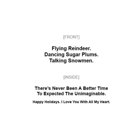 greeting card - Flying Reindeer by MIKE LUPARIELLO
