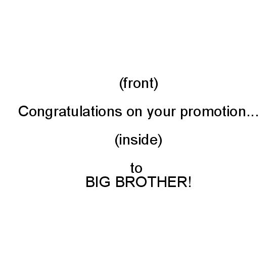 greeting card - Big Brother Promotiion by Politesse Studio