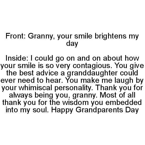 greeting card - Thank you, granny by Marissa Cunnyngham