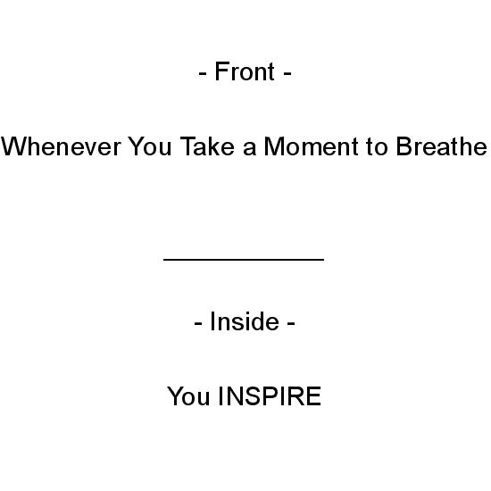 greeting card - Inspire by Crich