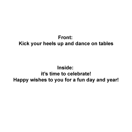 greeting card - Kick your heels up! by Ann Corrigan