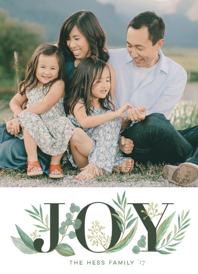 holiday photo cards - Greenery by Jessie Steury