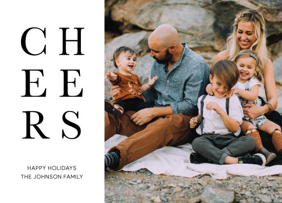 holiday photo cards - Minimalist Cheers by Chrissie Parker