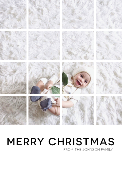 holiday photo cards - Merry Christmas Grid by Chrissie Parker