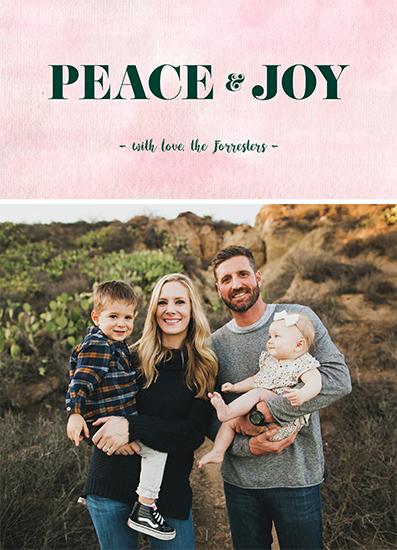 holiday photo cards - Peace and Joy by Anna Mkhikian
