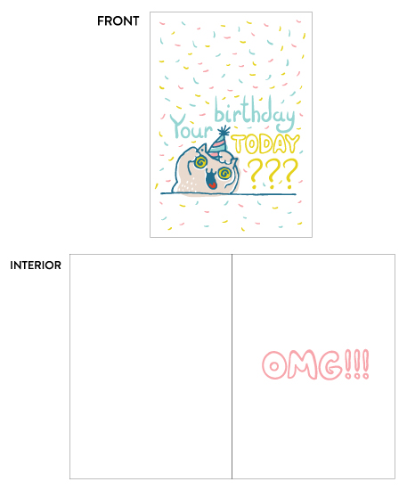 greeting card - OMG! by Igor