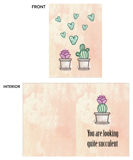 greeting card - You are looking quite succulent by sprinkledwithcolor