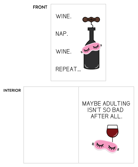 greeting card - Wine nap and repeat by sprinkledwithcolor