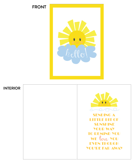 greeting card - Sunshine by sprinkledwithcolor