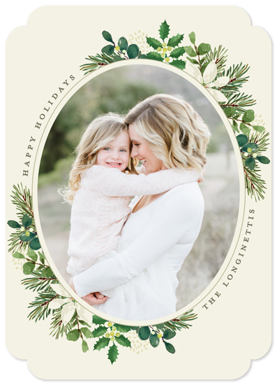holiday photo cards - Poinsettia Greens by Chris Griffith