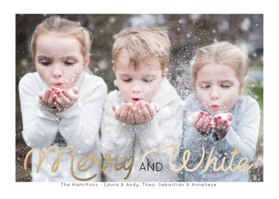 holiday photo cards - Merry & White by Mareike von Engelbrechten