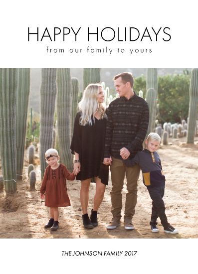 holiday photo cards - Minimalistic Happy Holiday by Chrissie Parker