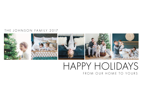 holiday photo cards - White Space Holiday by Chrissie Parker