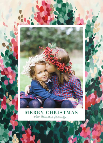 holiday photo cards - Hollyhocks by Holly Whitcomb
