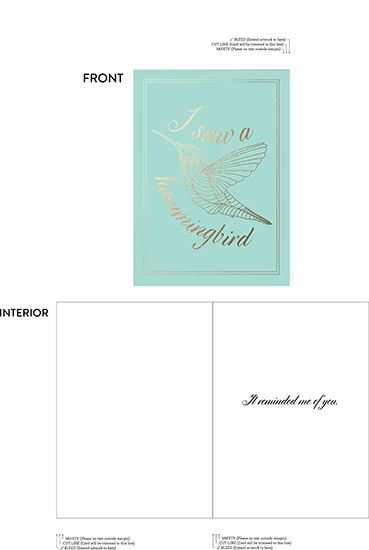 greeting card - Hummingbird by McKenna Pahl