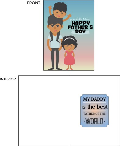 greeting card - Father's Love by Nitika Trichal