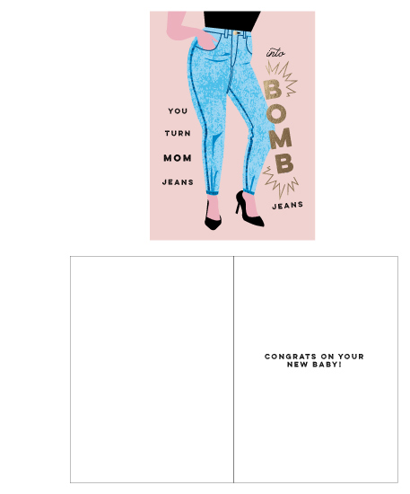 greeting card - Bomb Jeans by Katie Zimpel