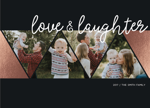 holiday photo cards - Love & Laughter by Ashley Konzen