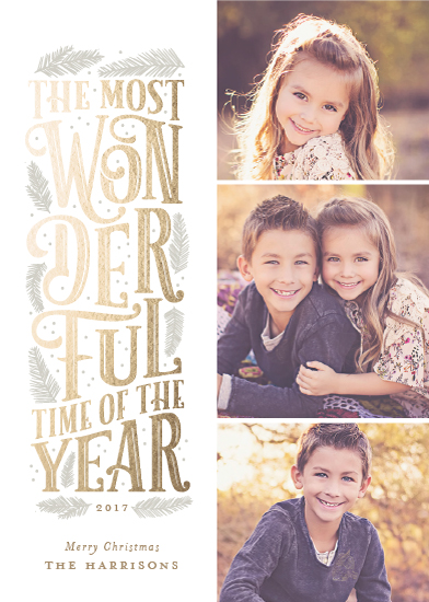 holiday photo cards - The Most Wonderful by Sarah Guse Brown