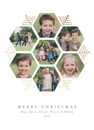 holiday photo cards - Hexagon Holiday by Beth Schneider